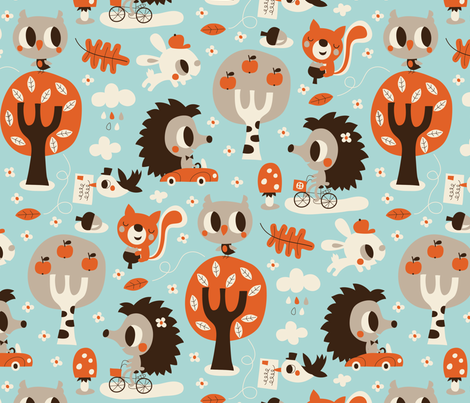 Henry and Hetty fabric by bora on Spoonflower - custom fabric