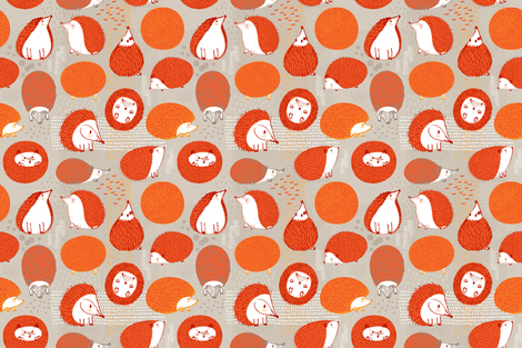 Quill Balls by Friztin fabric by friztin on Spoonflower - custom fabric