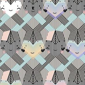 striped knit hugs&hearts