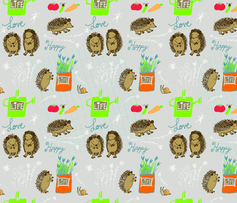 Hapiness_for_Hedgehogs fabric by annecotedesign on Spoonflower - custom fabric