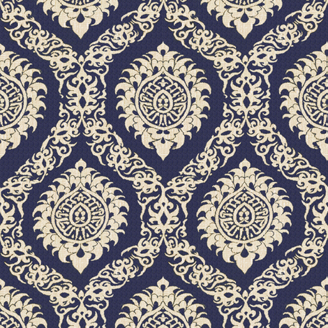 Ogee Purple fabric by wanderingaloud on Spoonflower - custom fabric
