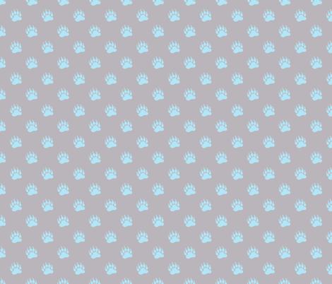 BearPrintsBlueGray fabric by alice_stevens on Spoonflower - custom fabric