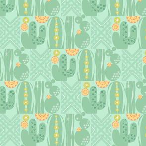 Southwest Cactus Garden Lite_Cactus w Grn