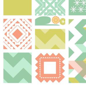 Southwest Cactus Garden Lite_Cheater Quilt