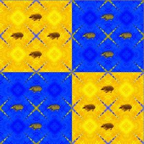 Hedgehog Checkerboard Tapestry