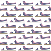 Espadrille Pink and Navy Stripes