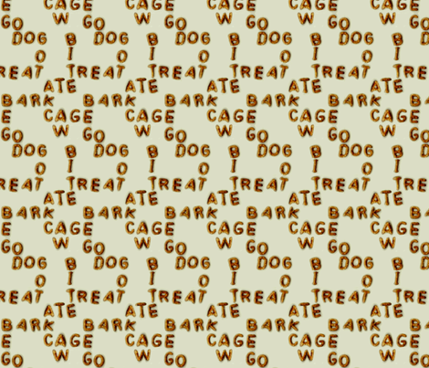 Dog speak fabric by wren_leyland on Spoonflower - custom fabric