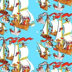 captains sailing boats ships nautical sea ocean water yachts sailors vikings soldiers warriors wizards paper jesters pirates toys vintage retro