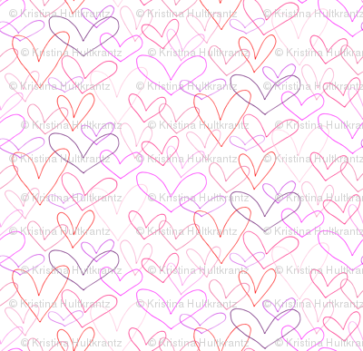 Hearts Outlines