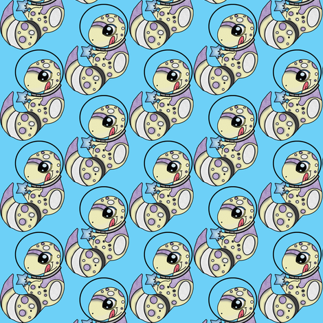Space Gecko fabric by starsofsobek on Spoonflower - custom fabric