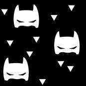 bat mask tri black