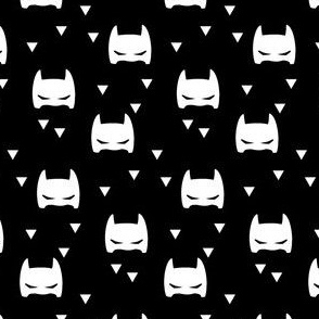 bat mask tri black