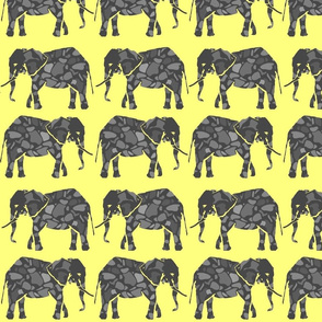 Elephants yellow