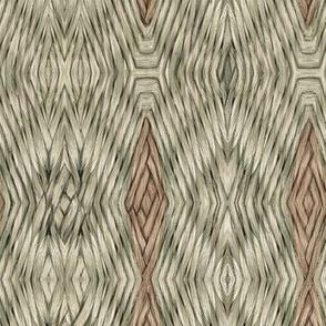 Green brown basket whorls