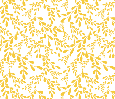 Fields of gold fabric by thislittlestreet on Spoonflower - custom fabric