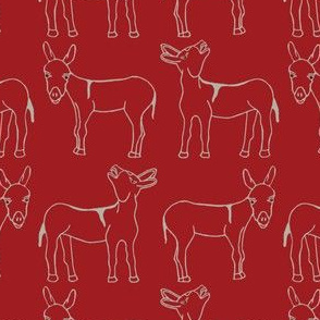 Wild West Burro Red