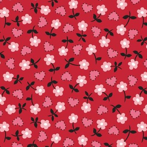 heart calico red