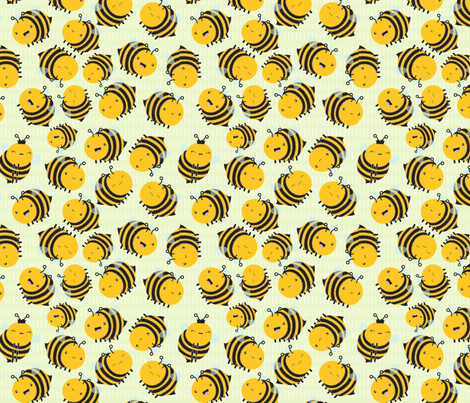 ditsy fuzzy bumbles fabric by mrs_buns on Spoonflower - custom fabric