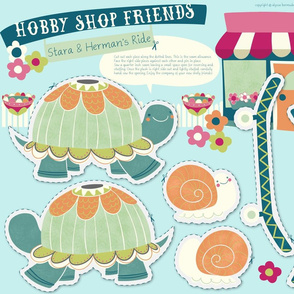 Hobby Shop Friends- Stara Turtle & Herman Snail
