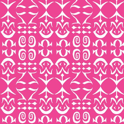 EASY ARCANA Fuchsia fabric by shi_designs on Spoonflower - custom fabric
