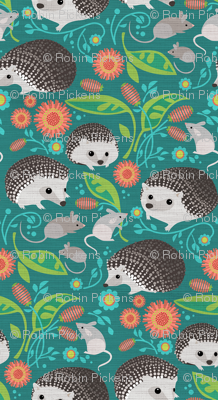 Hedgehogs and Mice Gathering_6in