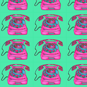 Pink and green phones