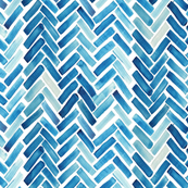 Blue herringbone watercolor