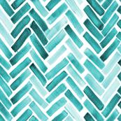 Mint herringbone watercolor
