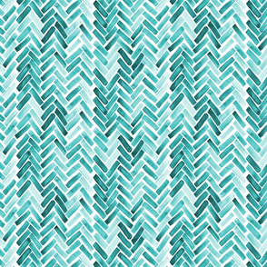 Mint  watercolor herringbone