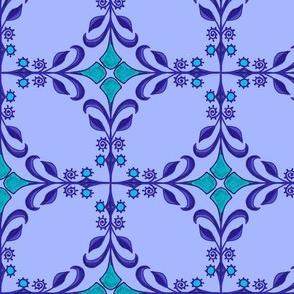Americana tiled - Blue