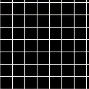 Black and Ivory Square Grid