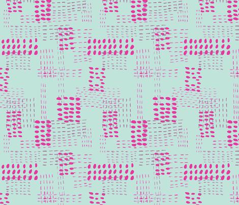 Sashiko Dots fabric by nicoleevelyn on Spoonflower - custom fabric