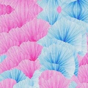 Pink and Turquoise Fans