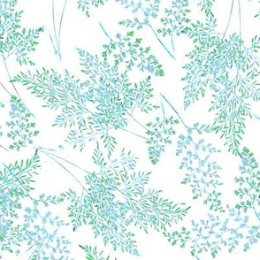 Fancy Ferns in Blue Green