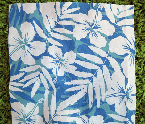 Blue tropic flowers