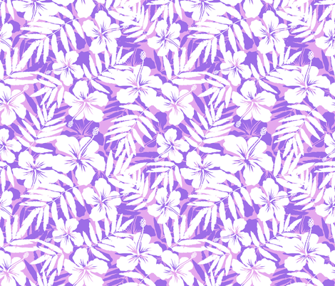 Pink tropic flowers fabric by art_of_sun on Spoonflower - custom fabric