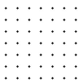 cross + black on white .5in wide