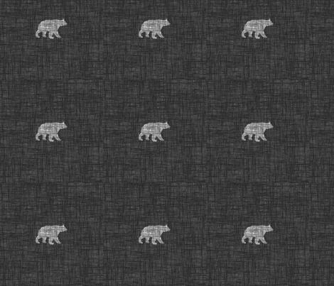 Small Bears 2 - gray fabric by thecalvarium on Spoonflower - custom fabric