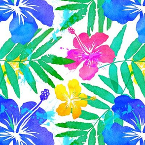 Vivid colors tropic flowers