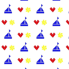 boats, hearts and pinwheels