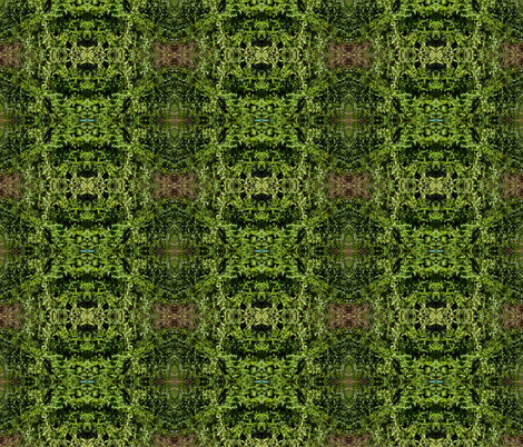 Entwined Passionfruit Vines - Vertical Stripes (Ref. 0022) fabric by rhondadesigns on Spoonflower - custom fabric