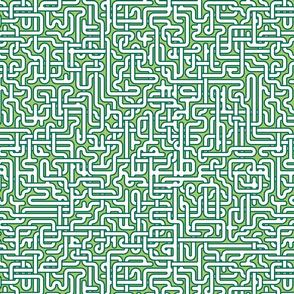 hospital corridors - green