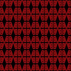 Quad Coils Red on Black