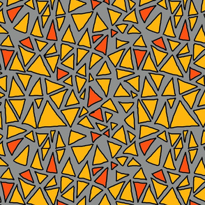 Dynamic Triangles Yellow on Grey