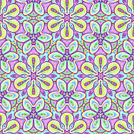 Floating Soft Flowers fabric by eclectic_house on Spoonflower - custom fabric