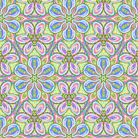 Floating Soft Blue Flowers fabric by eclectic_house on Spoonflower - custom fabric