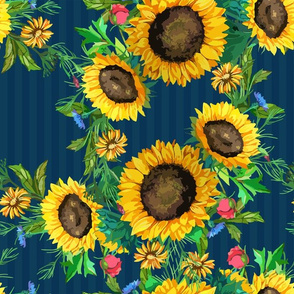 seamless_pattern_of_watercolor_sunflowers_big_and_small_with_green_leaves_2