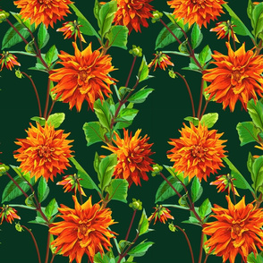 Pattern_of_georgina_flowers_with_leaves_3