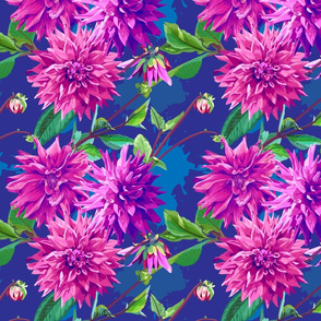 Pattern_of_georgina_flowers_with_leaves_4