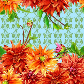 pattern_of_horizontal_stripes_of_dahlia_flowers